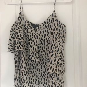 J. Crew Tops - Jcrew silk cami tank top polka dots